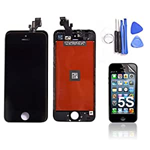 SAVFY iPhone 5S Replacement Screen - LCD Touch Screen & Digitizer Display Assembly Replacement For iPhone 5S Black, [Importado de UK]