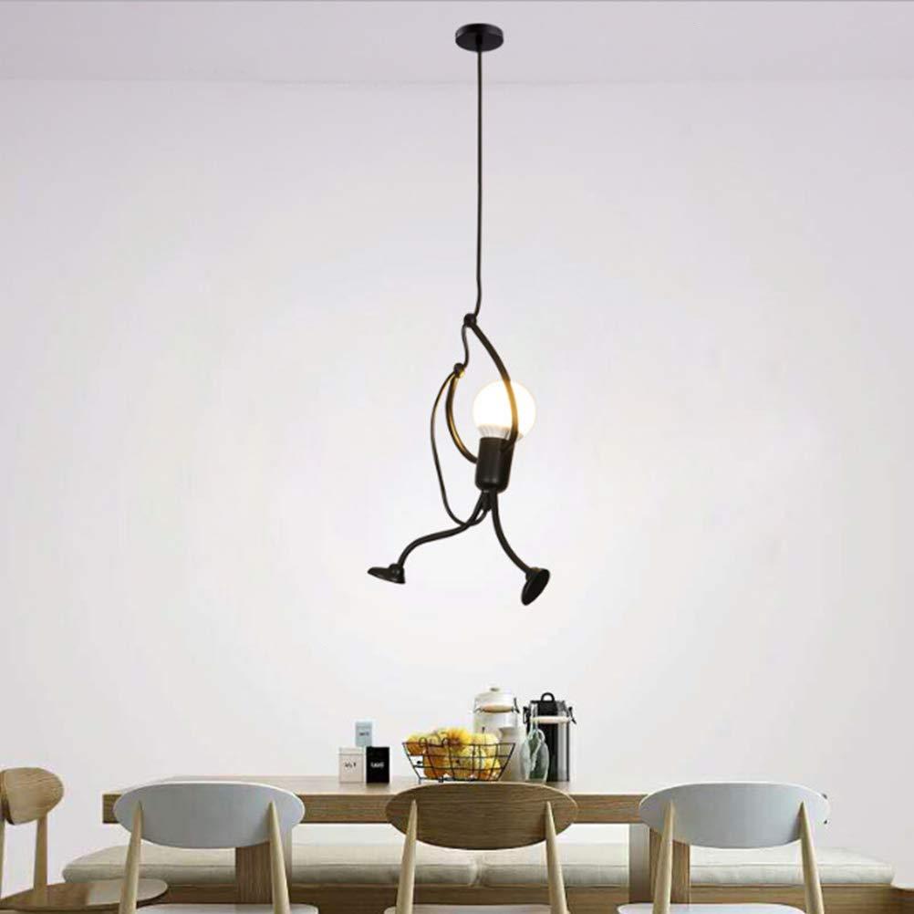 de hierro L/ámpara colgante creativa vintage cafeter/ía habitaci/ón infantil TAIPPAN restaurante pasillo para dormitorio noche