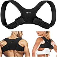 Copper Compression Posture Corrector for Men and Women - Guaranteed Highest Copper Back Brace Posture Support Correctors. Adjustable Straightener Supports Shoulder and Upper Back for Correct Posture