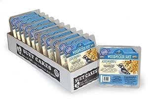 Heath Outdoor Products DD-24 Woodpecker Suet Cake, Case of 12