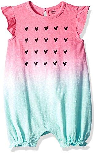 - Gymboree Girls' Toddler 1-Piece Bubble Bodysuit, Watermelon Ombre, 12-18 mo