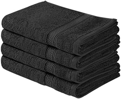 Utopia Towels Cotton Large Hand Towel Set (4 Pack, Grey - 16 x 28 Inches) - Multipurpose Bathroom Towels for Hand, Face, Gym and Spa by Utopia Towels