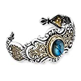 Carolyn Pollack - Elegant Affair Labradorite Mixed Metal Cuff Bracelet - Elegant Affair Collection