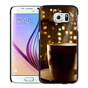 NEW Unique Custom Designed Samsung Galaxy S6 Phone Case With Hot Coffee City View_Black Phone Case