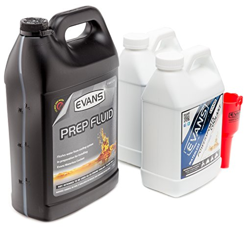 Evans Coolant EC72064-2 EC41001 Powersports Waterless Coolant and Prep Fluid Combo Pack, 2 Gallon with Funnel by EVANS (Image #1)
