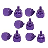 uxcell Computer PC Case 6-32 Fully Threaded Knurled Thumb Screws Purple 10pcs