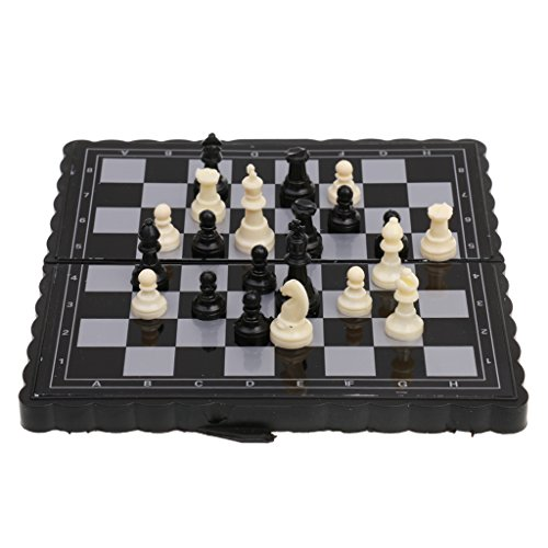 Jili Online Pocket Chess Game Magnetic Plastic Chessboard Set Classic Chess Outdoor Game (Plastic Chess Travel)