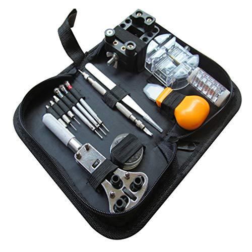 Tool Kit Set - 13pcs Watch Repair Kit Set Case Opener Link Spring Bar Remover Screwdriver Tweezer Watchmaker - Pimple Cell Switch Drawers Decker Boys Dorm Level Bike Under Blue Bits Organizer Cl
