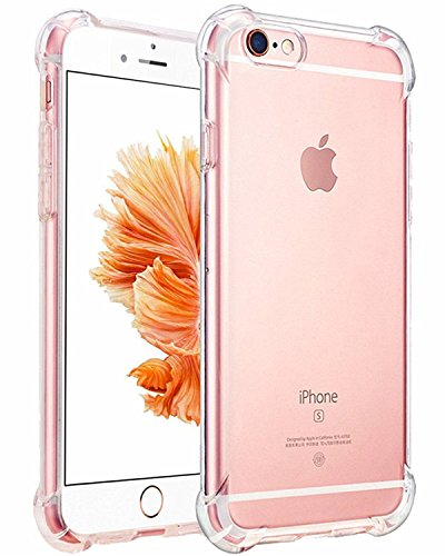 iPhone 6 Case, iPhone 6s Case, Gruichi Crystal Clear Case, Shock Absorption Technology TPU Bumper Hard Back Cover Case for Apple iPhone 6 / 6s
