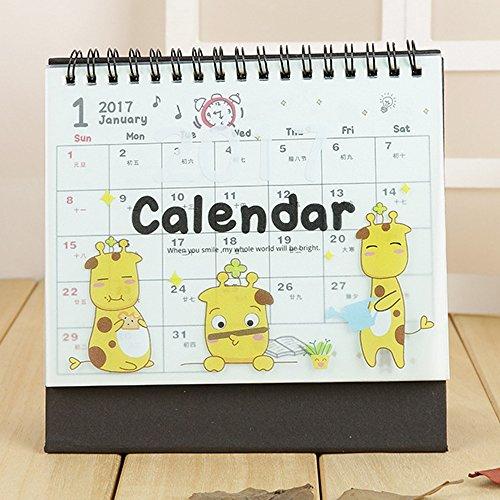 academic planner 2016 2017 desk calendar girl daily weekly monthly