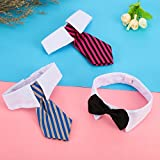 Shappy 3 Pieces Adjustable Pets Dog Cat Bow Tie Pet Costume Necktie Collar for Small Dogs Puppy Grooming Accessories