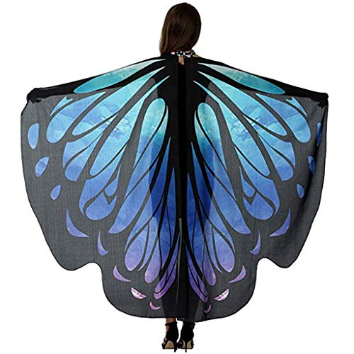 EONGERS Butterfly Wings Costume Party Prom Children Dress Up Novel Costumes (Blue Purple -