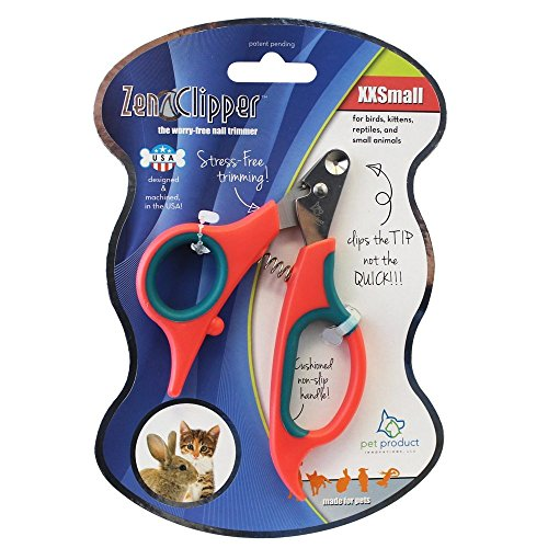 (Zen Clipper Pet Nail Trimmers for Kittens, Birds and Other Tiny Animals - the Worry-Free Nail Scissors - Unique Blade Clips the Tip Not the Quick - Stress/Injury-Free Nail Cutting)