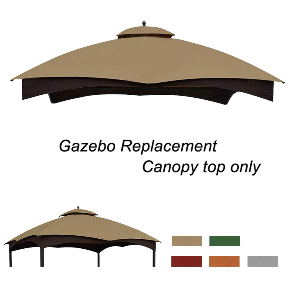 Eurmax Replacement Canopy Top for Lowe's Allen Roth 10X12 Gazebo #GF-12S004B-1 (Khaki)
