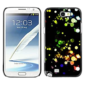 KLONGSHOP // Cubierta de piel con cierre a presión Shell trasero duro de goma Protección Caso - Modelo colorido - Samsung Note 2 N7100 //