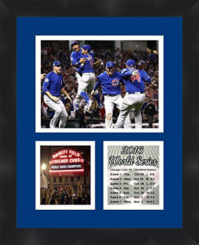 Chicago Cubs 2016 World Series Photo Collage Framed 11X14 (Series Collage)
