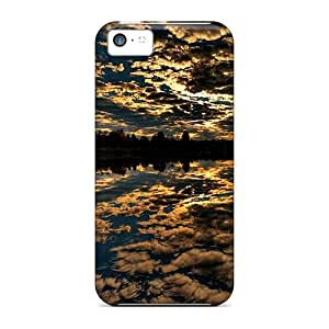 Defender Cases With Nice Appearance (clouded Lake) For Iphone 5c
