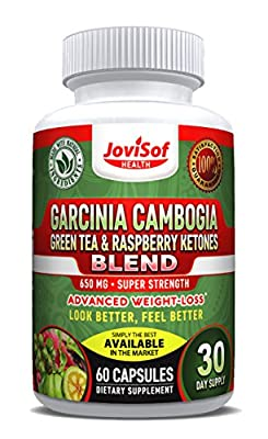 Green Tea Extract | Best Weight Loss Diet Pills with Garcinia Cambogia -Green Coffee Bean & Red Raspberry Ketones | Boost Metabolism + Fat Burning Supplement + Appetite Suppressant | 60 Count