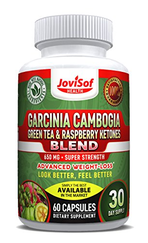 Green Tea Extract | Best Weight Loss Diet Pills with Garcinia Cambogia -Green Coffee Bean & Red Raspberry Ketones | Boost Metabolism + Fat Burning Supplement + Appetite Suppressant | 60 Count (Best Slimming Tea)