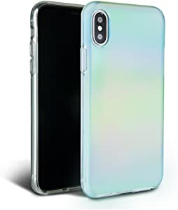 FELONY CASE iPhone X/XS Case Beautiful & Stylish Aura Holographic - Shock Absorbing Protective iPhone X/XS Case Drop-Proof Protection for Screen & Body (Aura Holographic)