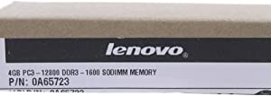 Lenovo 4GB DDR3 1600 SODIMM PC3 12800 Memory Module (0A65723)