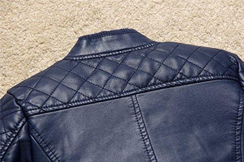 c9a102f48 Budermmy Boys Bomber Faux Leather Zipper Biker Jackets Blue Size 12