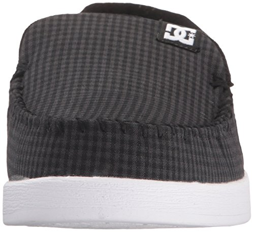 DC Shoes Men's Villain TX Shoes Slip-on Low Top Shoes Black Buffalo Plaid