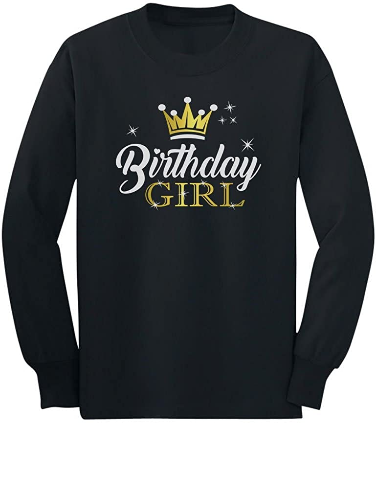 Gift for Birthday Girl Princess Party Girly Toddler//Kids Long Sleeve T-Shirt