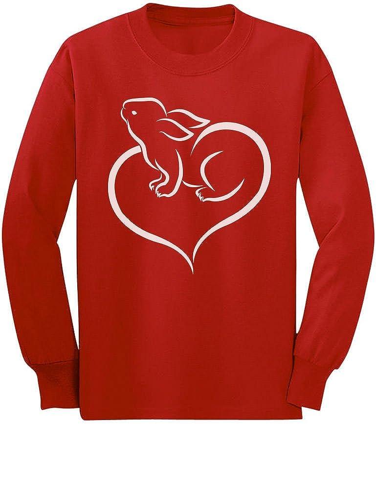 Love Heart Bunny Cute Easter Toddler//Kids Long Sleeve T-Shirt Tstars
