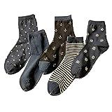 Fashion 5 Pairs Men's Dress Warm Socks