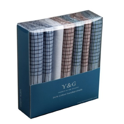 YEC01 Excellent Design 7 Pure Cotton Handkerchiefs Set Wedding Goods By Y&G