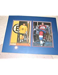 "* RAY BOURQUE * signed Avalanche & Bruins dual signed 16x20"" photo display / Registered Dealer UACC"