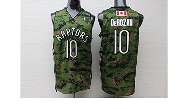 be2d40b8d42 Toronto Raptors NO.10 Deronzan Basketball Jersey Camouflage Basketball  Jersey-M: Amazon.ca: Sports & Outdoors