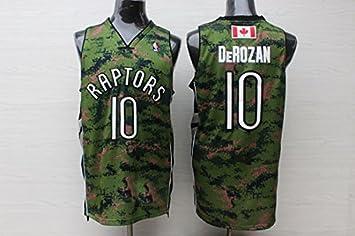 265421520cc Toronto Raptors NO.10 Deronzan Basketball Jersey Camouflage Basketball  Jersey-M