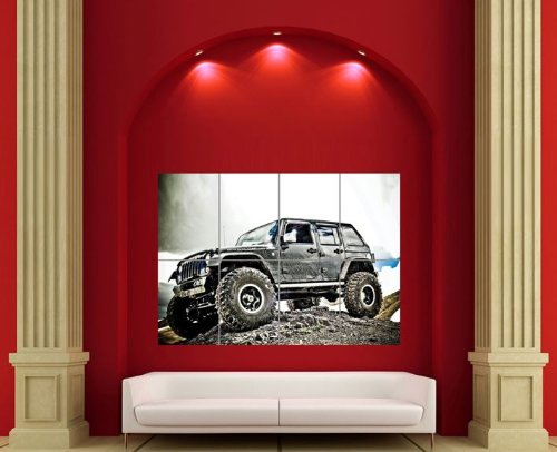 Jeep Off Road Car Giant Wall Art Print Poster Picture
