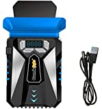 Cosmic Byte HailStorm Laptop Vacuum Cooler with Temperature Display and Adjustable Fan Speed (Black and Blue)