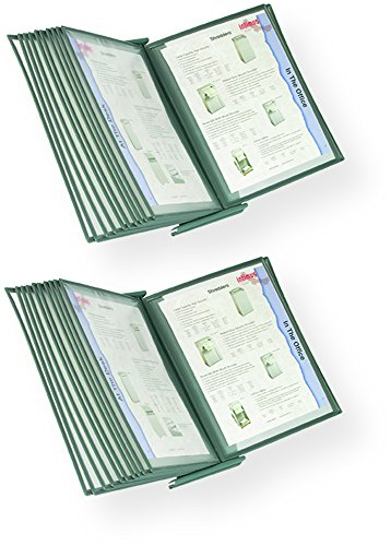Martin Yale MVSM10 MasterView Executive Desktop Stand (Pack of 2), 10 sleeves display up to 20 documents at a time, Sleeves hold 8 1/2