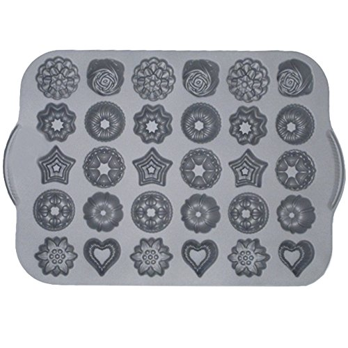 Nordic Ware 59402 Commercial Series Tea Cake & Candies Mold Pan