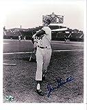 Signed Gentile Picture - 8X10 Vintage Dodgers Pose w Bat COA - Autographed MLB Photos