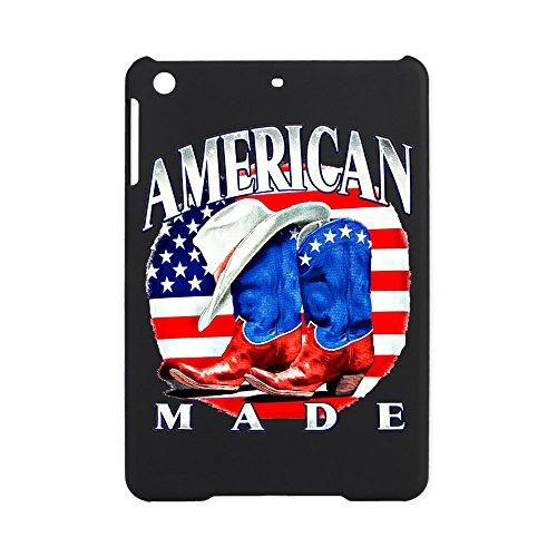 iPad Mini Case Black US American Flag Country Cowboy Boots