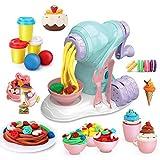 LITTLE SIENA Color Clay Manual Maker Machine Kit, Ice Cream Dough Playset, Kids Clay Dough Tools Playset, Creative DIY Plasticine Molding Set, Ice Cream Set Machine Mold for Girls and Boys