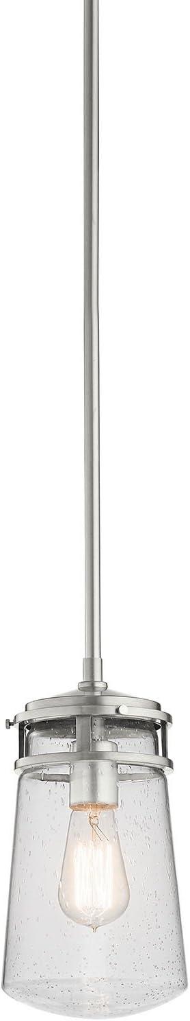 Kichler Lighting 49446AZ Lyndon 1LT Mini-Pendant Architectural Bronze Finish with Clear Seedy Glass