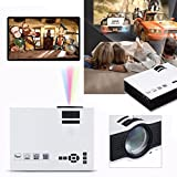 "Projector , Lary intel 2017 Updated Full Color Full Color 130"" Image Pro Mini Portable 1200lumens 1080P HD LCD LED Mini Home Multimedia Theater Cinema Game Video Projector HDMI VGA IP IR USB SD Play"
