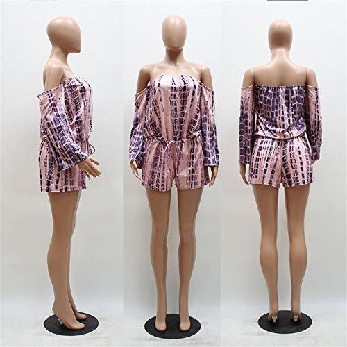 LOBTY Jumpsuits Damen Hosen Shorts Wort Schulter Beachwear Overall ...