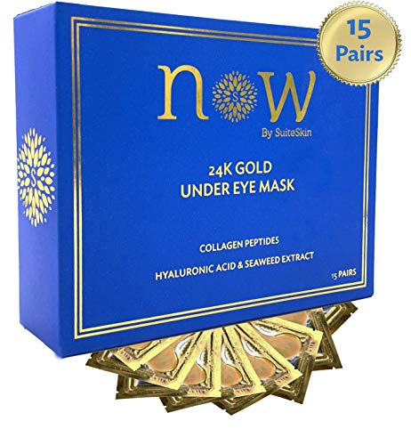 24K Gold Under Eye Mask | Revitalizing Eye Treatment with Hyaluronic Acid | Patches Moisturize, Reduce Dark Circles, Puffiness & Wrinkles| Awaken Your Eyes NOW by SuiteSkin ()
