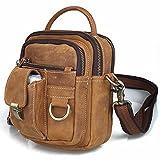 Koolertron Vintage Leather Fanny Pack & Shoulder