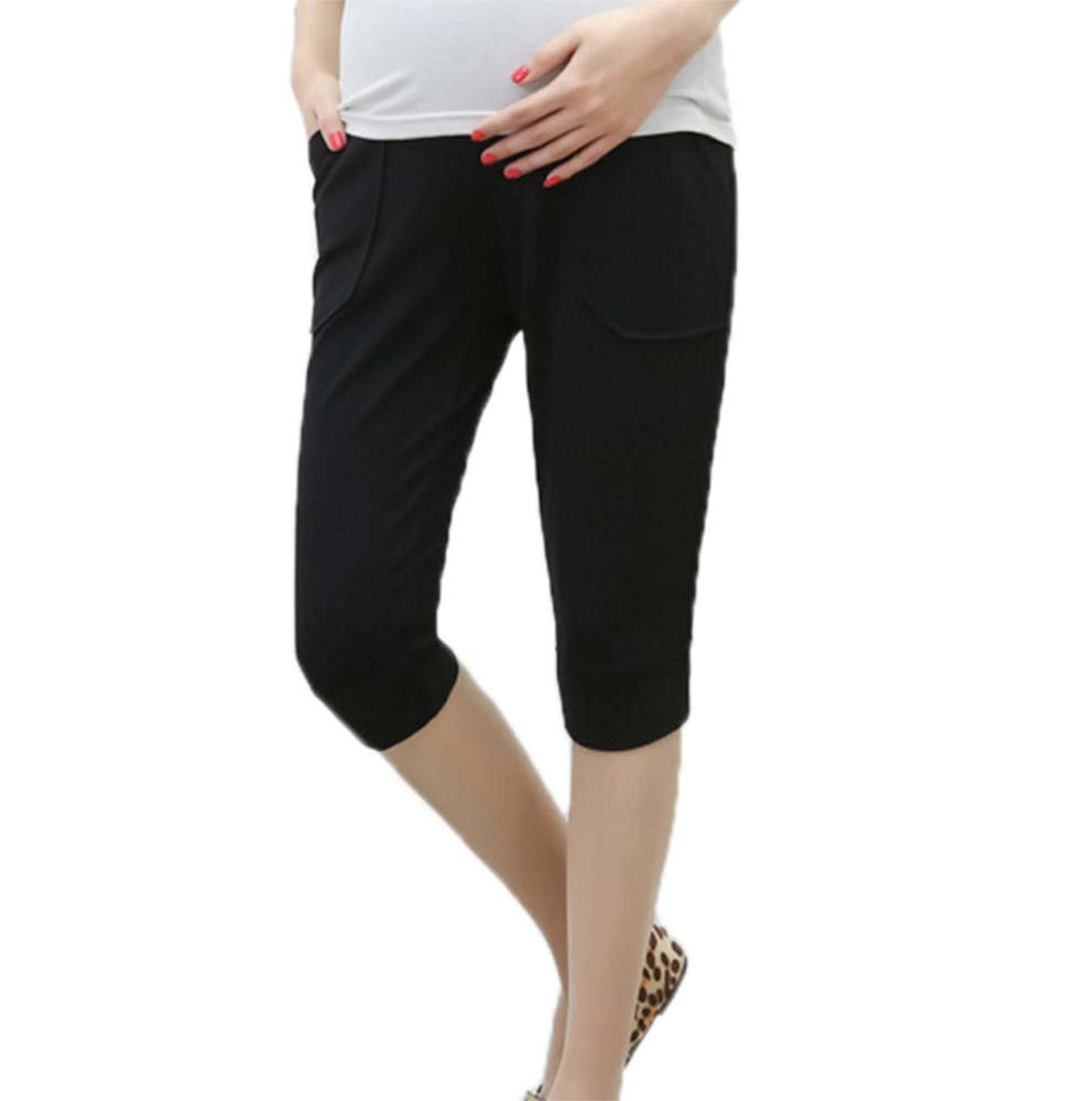 Huateng 2018 Summer Maternity Pants Seven Casual Sports Harem Pants Lace-up Belly Thin Section Summer Pregnant Women Shorts