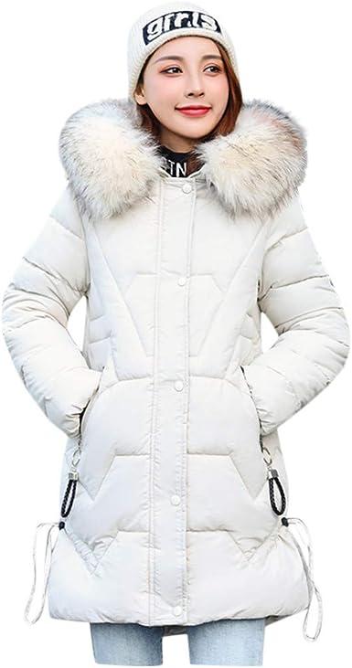 New Women/'s Winter Jacket Quilted Down Cotton Hooded zip Parka Coat Jacket