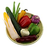 Gresorth Artificial Vegetable Fake Cucumber Corn Pepper Onion Beans Home Party Decoration - 10 Pack
