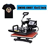 Ambienceo 1000W 12''x15'' 360 Degree Swing Away Digital Transfer Sublimation T-shirt Heat Press Machine